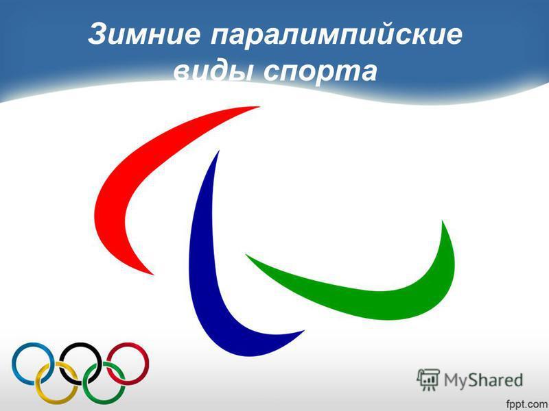 Зимние параолимпийские виды спорта