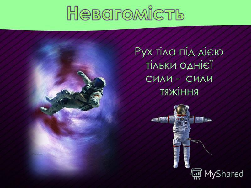 Рух тіла під дією тільки однієї сили - сили тяжіння