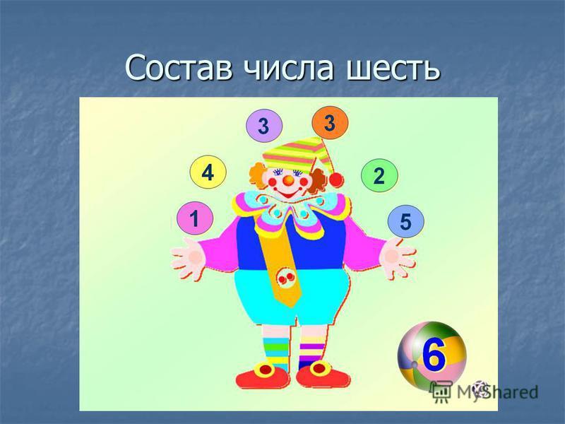 Состав числа шесть