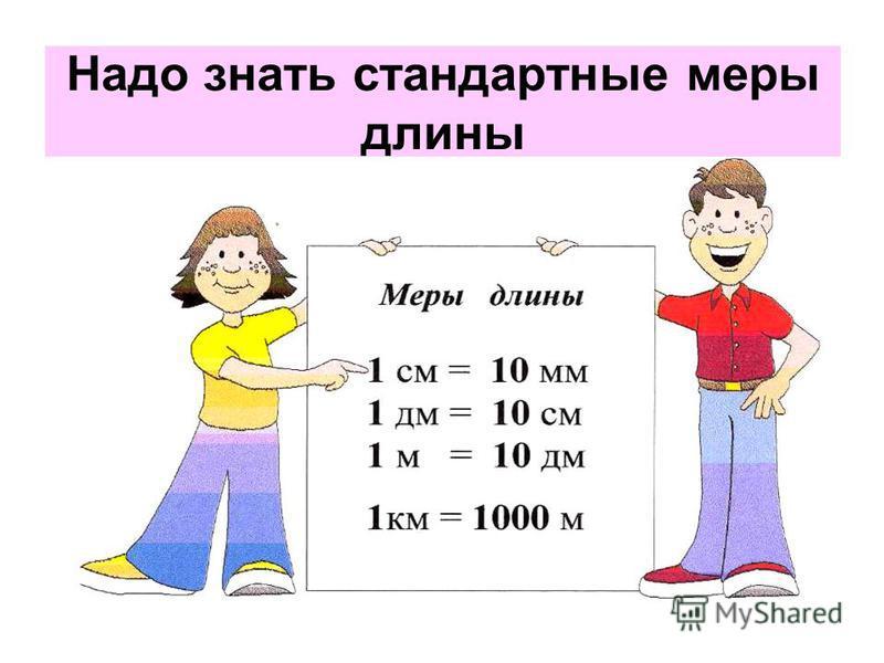 Надо знать стандартные меры длины