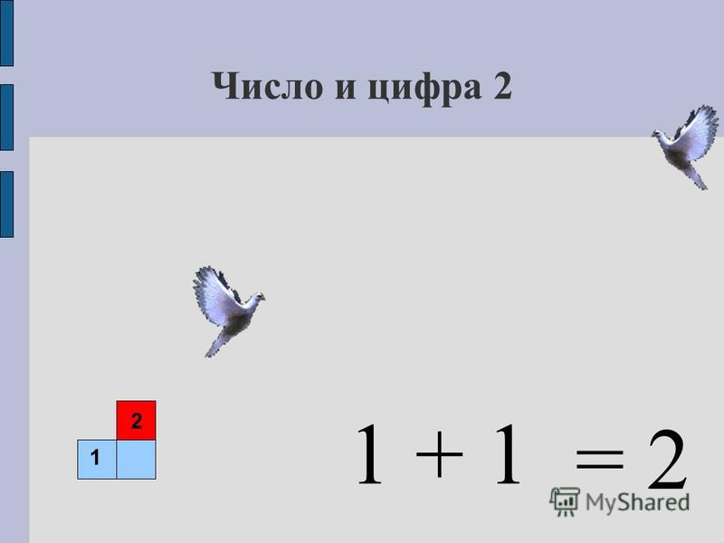 Число и цифра 2 + 1 1 2 1 = 2