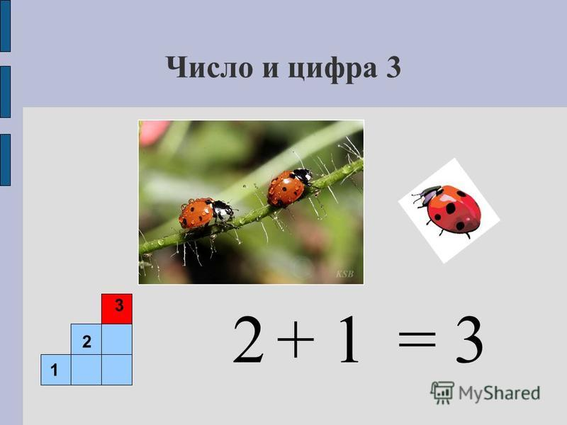 Число и цифра 3 = 32+ 1+ 1 1 2 3