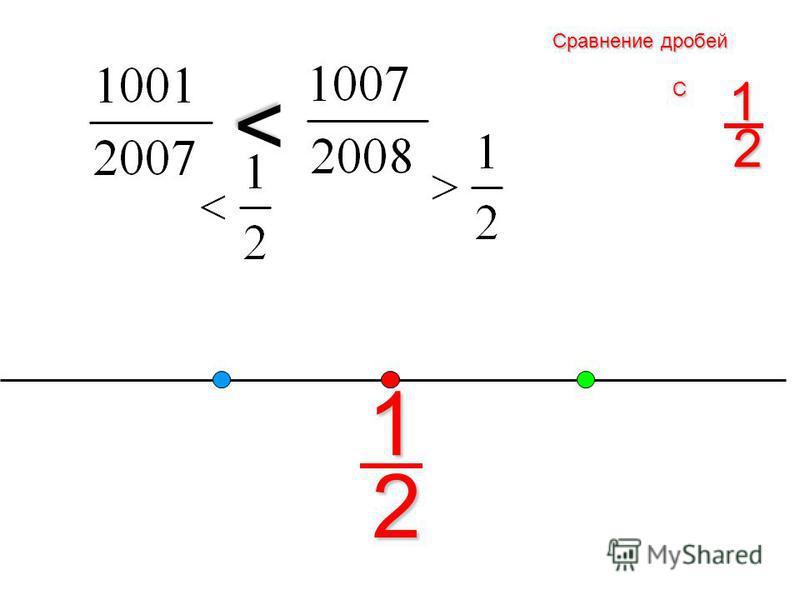 1 > > > Сравнение дробей с единицей