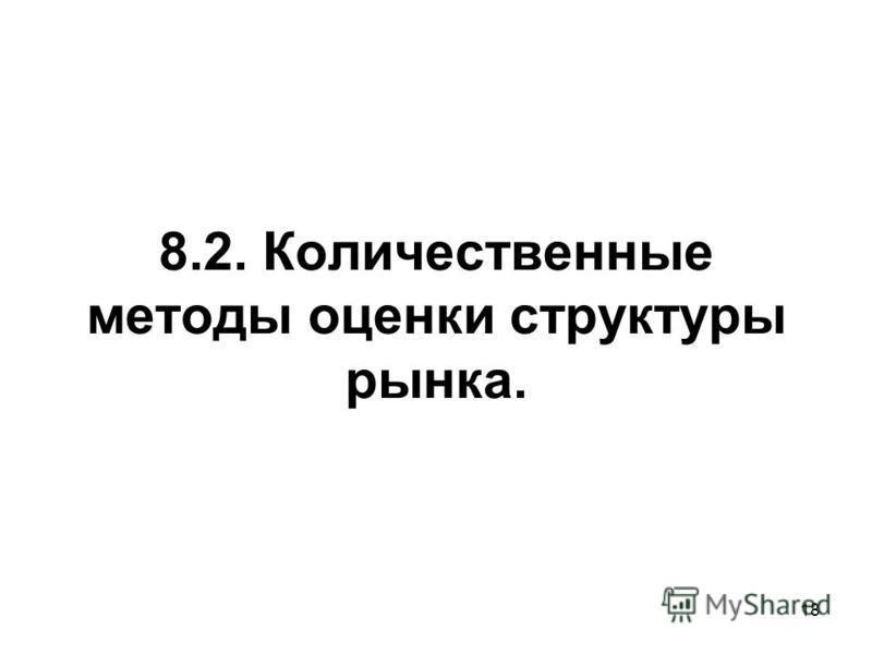 18 8.2. Количественные методы оценки структуры рынка.