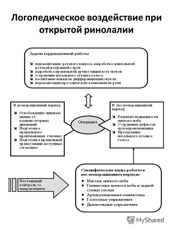 Логопедическое воздействие при открытой ринолалии