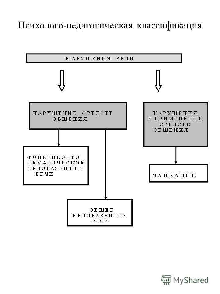 Психолого-педагогическая классификация