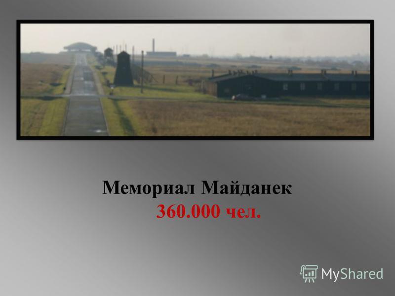 Мемориал Майданек 360.000 чел.