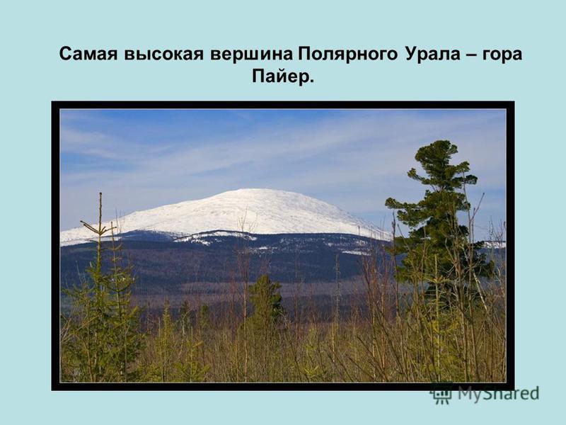 Самая высокая вершина Полярного Урала – гора Пайер.