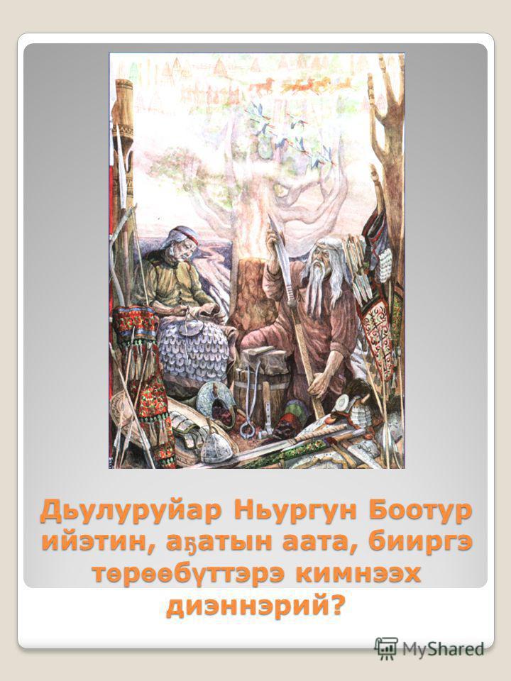 Дьулуруйар Ньургун Боотур ийэтин, а ҕ атын аата, бииргэ т ө р өө б ү ттэрэ кимнээх диэннэрий?