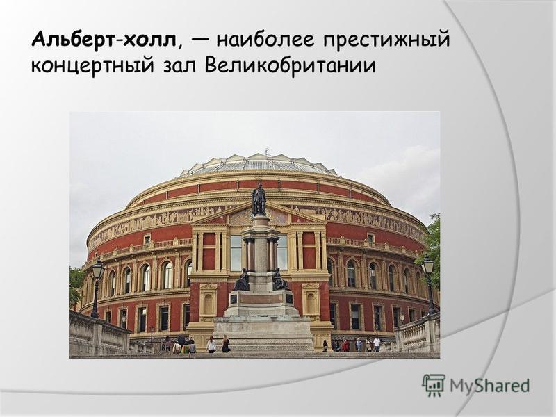Альберт-холл, наиболее престижный концертный зал Великобритании