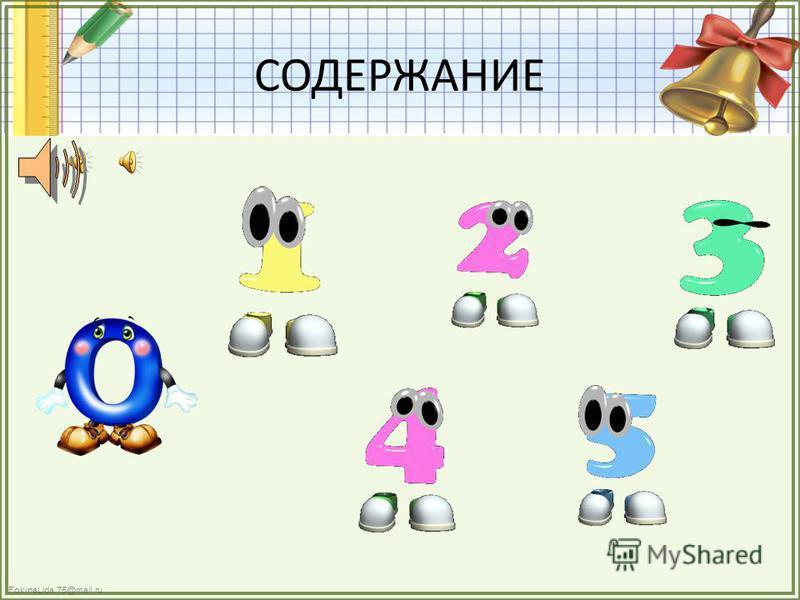 FokinaLida.75@mail.ru СОДЕРЖАНИЕ