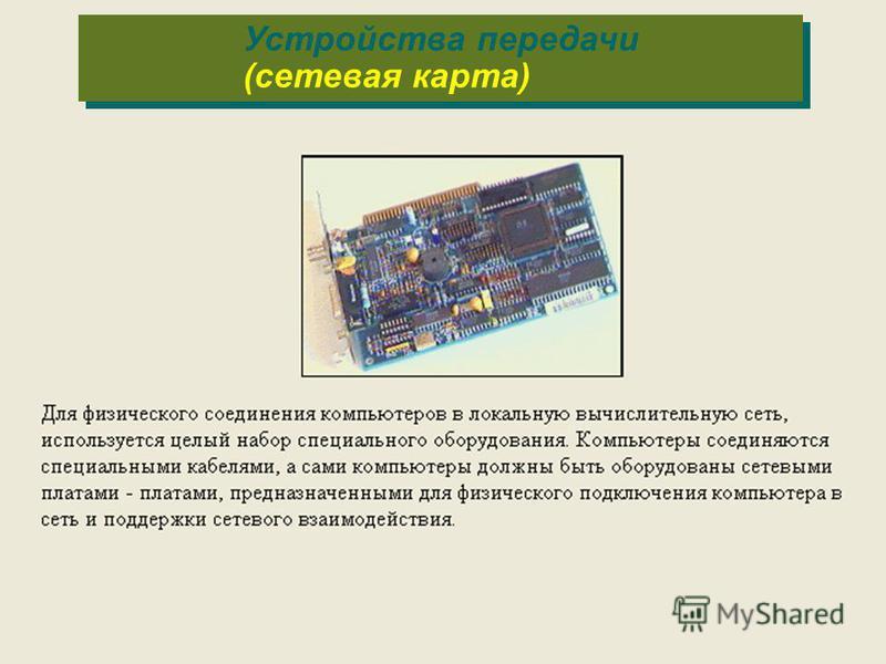 Устройства передачи (сетевая карта)