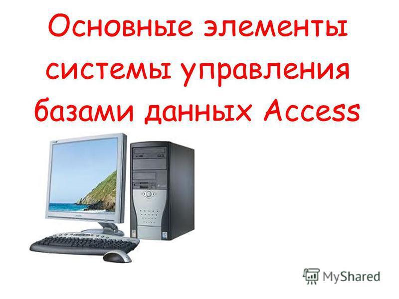 Основные элементы системы управления базами данных Access