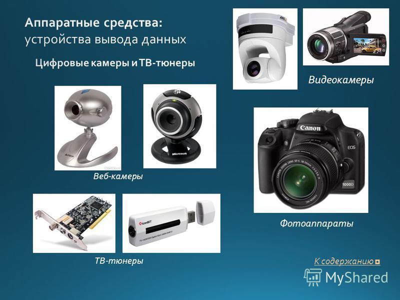 Фотоаппараты Веб-камеры Видеокамеры ТВ-тюнеры К содержанию