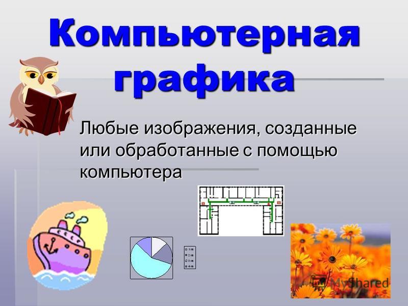 Компьютерная графика Любые изображения, созданные или обработанные с помощью компьютера