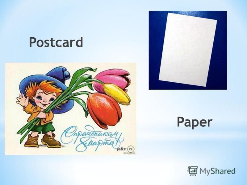 Postcard Paper