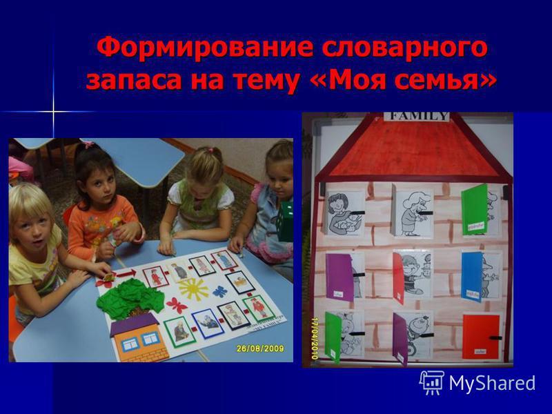 Формирование словарного запаса на тему «Моя семья»