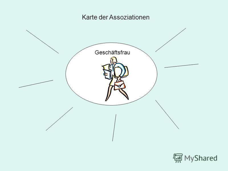 Geschäftsfrau Karte der Assoziationen