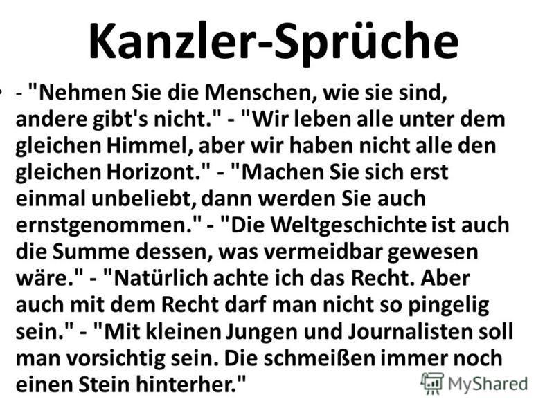 Kanzler-Sprüche -
