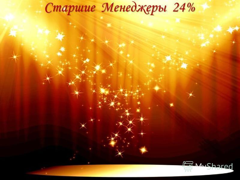Старшие Менеджеры 24%