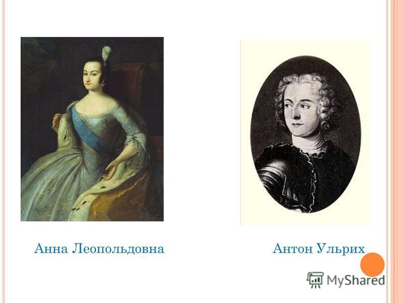 Анна Леопольдовна Антон Ульрих
