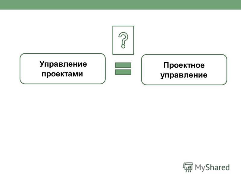 Проектное управление Управление проектами