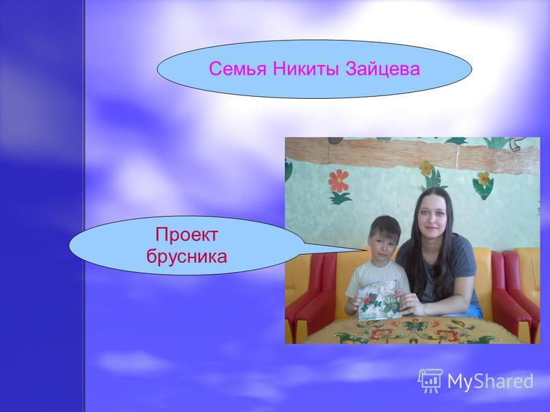 Семья Никиты Зайцева Проект брусника