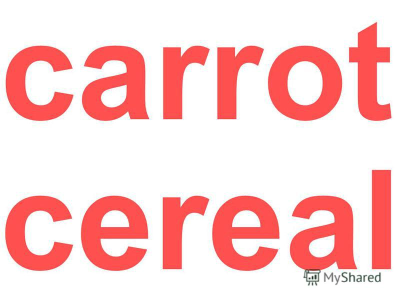 carrot cereal