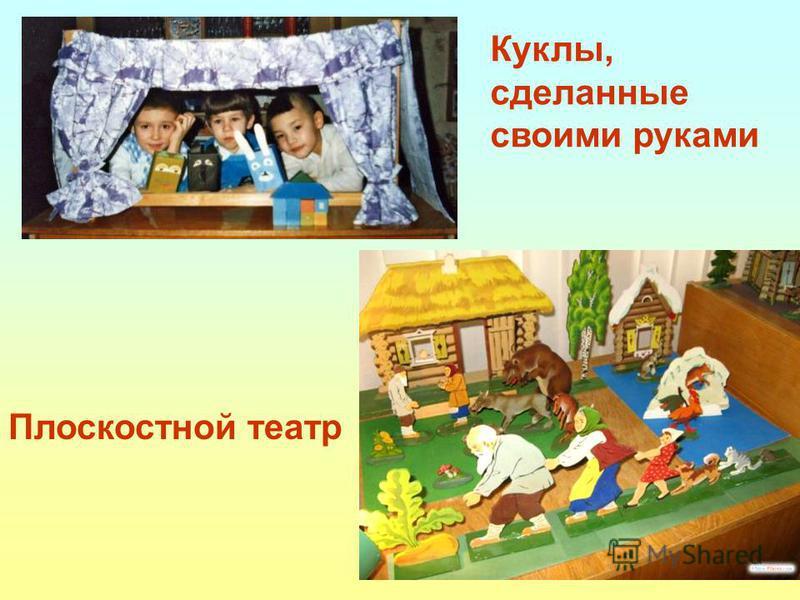 Плоскостной театр Куклы, сделанные своими руками