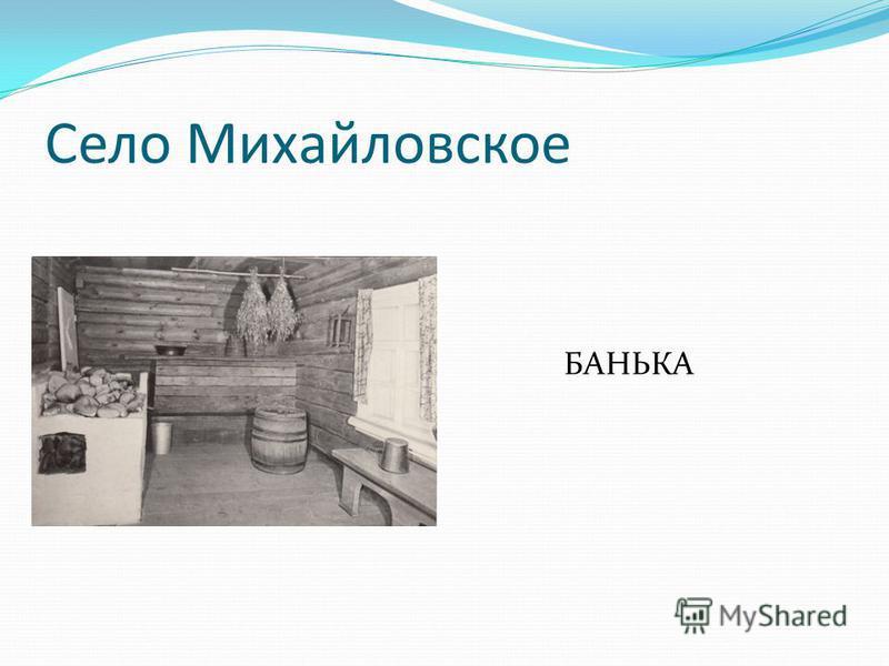 Село Михайловское БАНЬКА