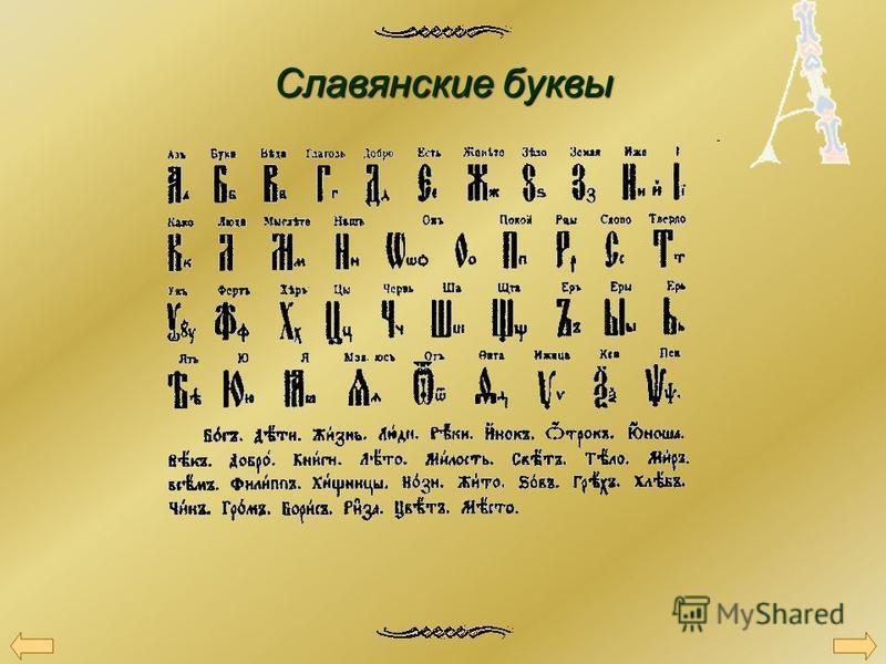 Славянские буквы
