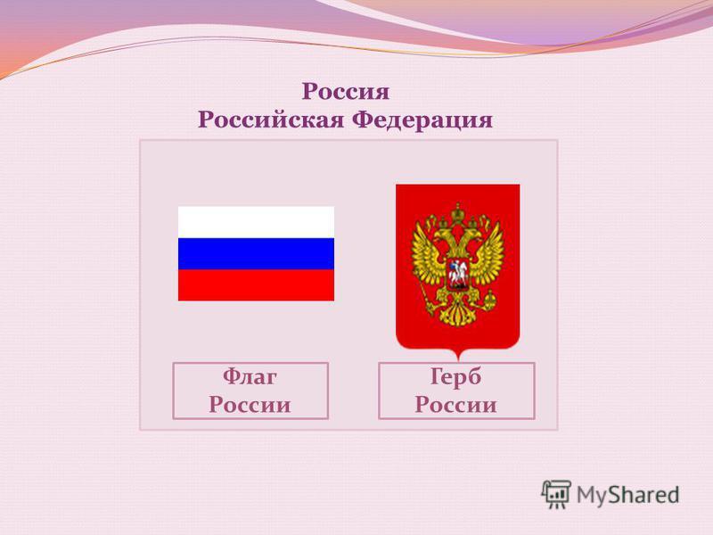 Россия Российская Федерация Флаг России Герб России