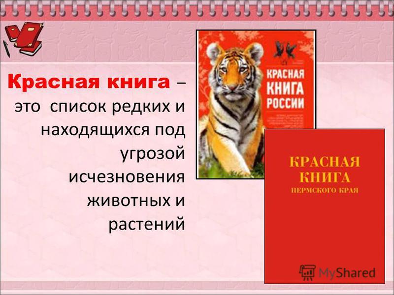 Красная книга – это список редких и находящихся под угрозой исчезновения животных и растений