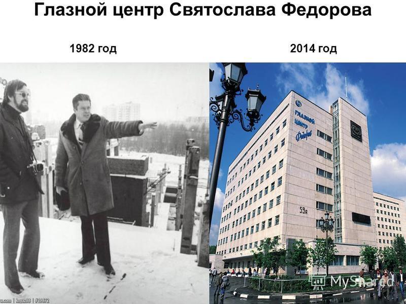 Глазной центр Святослава Федорова 1982 год 2014 год