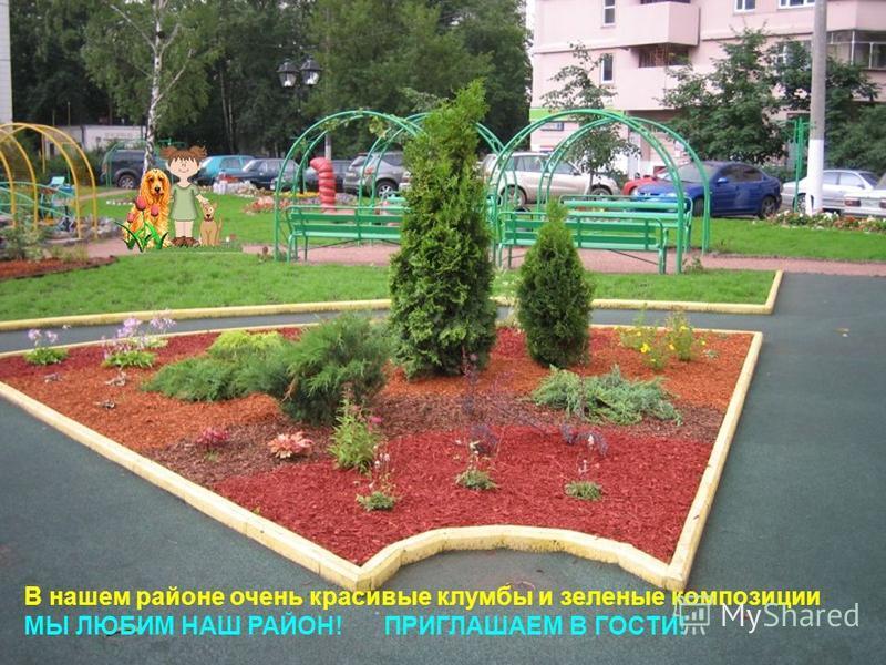 В нашем районе очень красивые клумбы и зеленые композиции МЫ ЛЮБИМ НАШ РАЙОН! ПРИГЛАШАЕМ В ГОСТИ!
