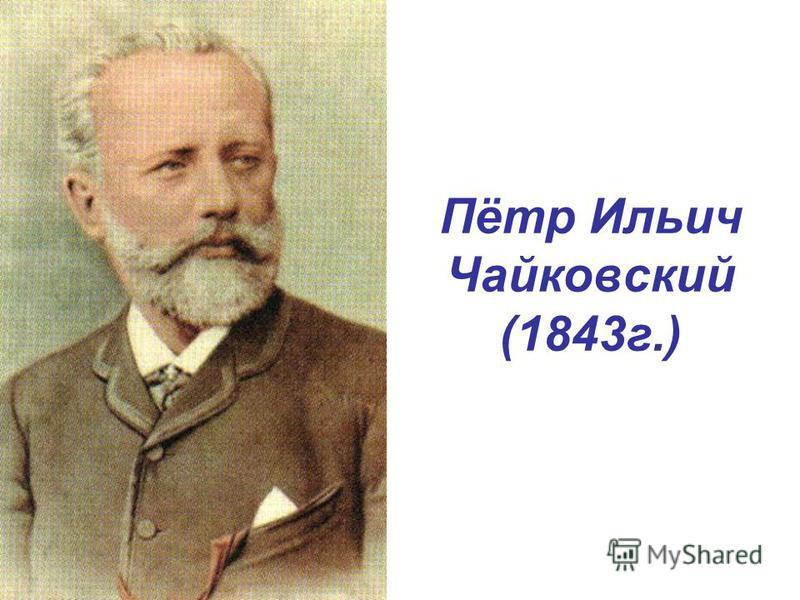 Пётр Ильич Чайковский (1843 г.)