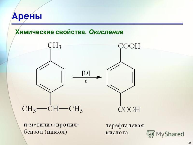 44 Арены Химические свойства. Окисление