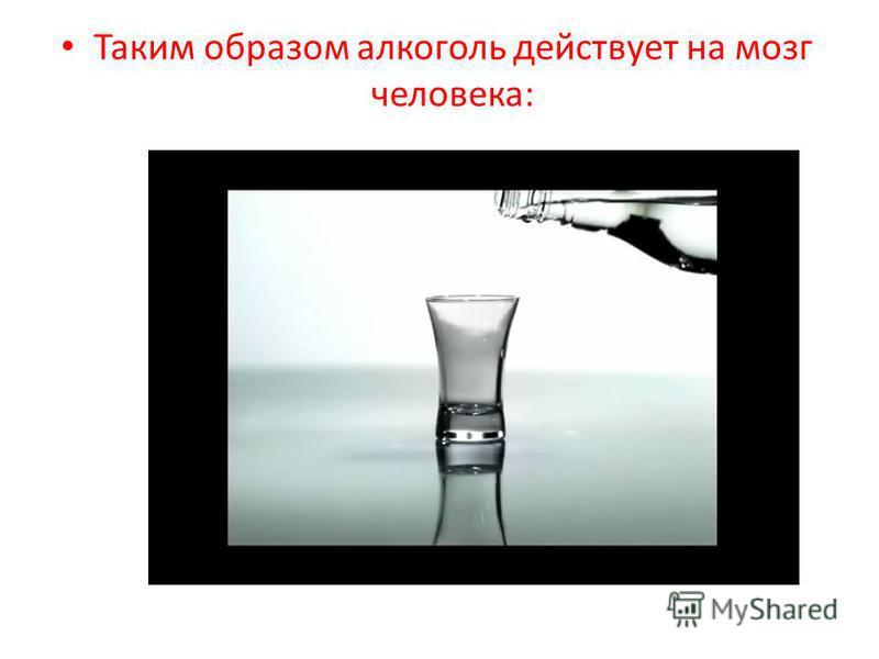 Таким образом алкоголь действует на мозг человека: