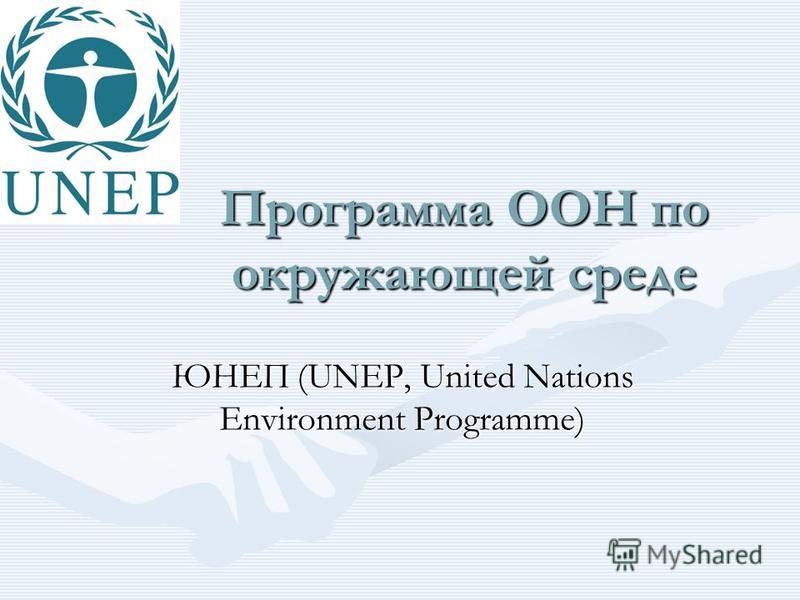Программа ООН по окружающей среде ЮНЕП (UNEP, United Nations Environment Programme)