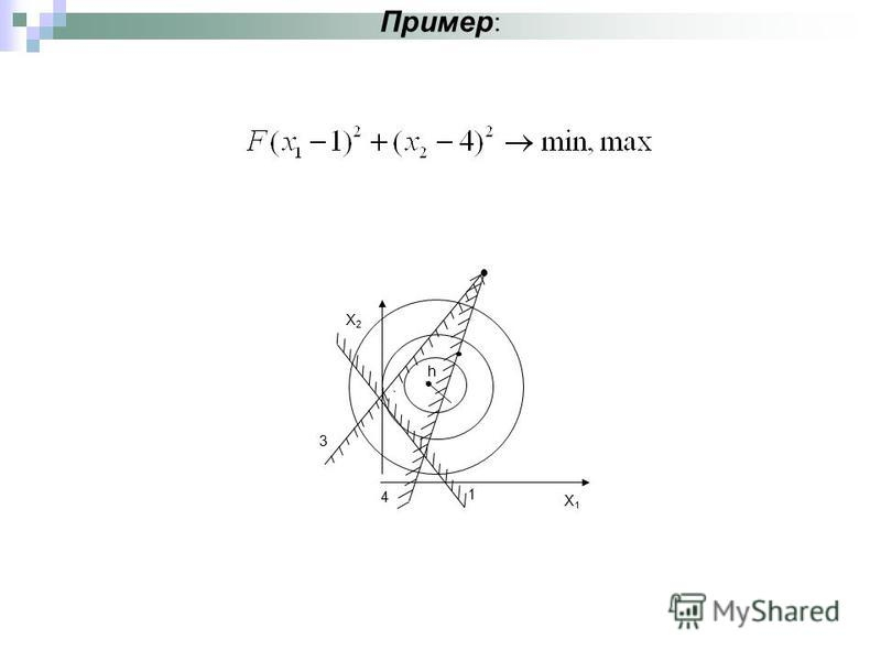 Пример : X1X1 X2X2 h 1 3 4