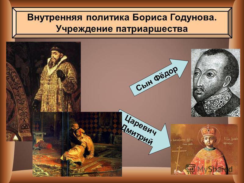 Сын Фёдор Царевич Дмитрий