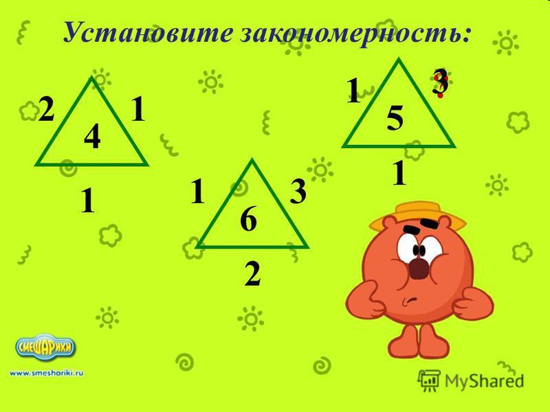 Установите закономерность: 2 ? 1 1 3 6 2 1 5 4 1 1 3
