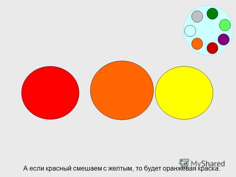 Возьмем одну синюю и три красных капли красок получится бордовый цвет.