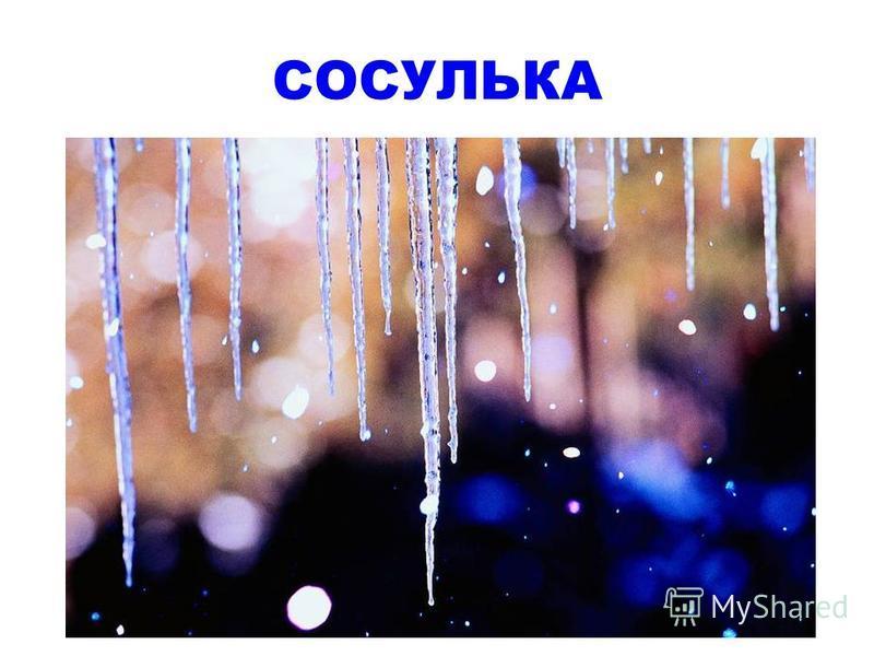 Растет она вниз головою, Не летом растет, а зимою, Но солнце ее припечет - Заплачет она и умрет.