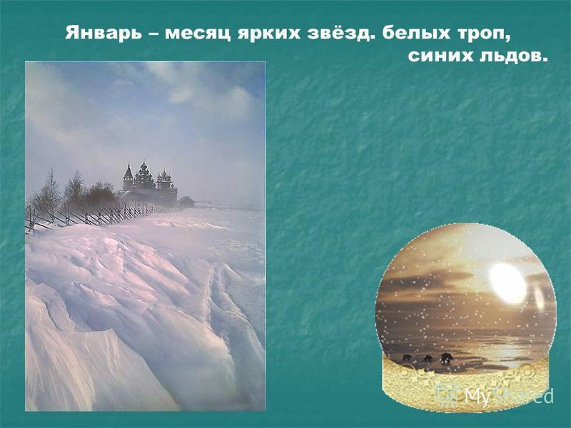 Январь – месяц ярких звёзд. белых троп, синих льдов.