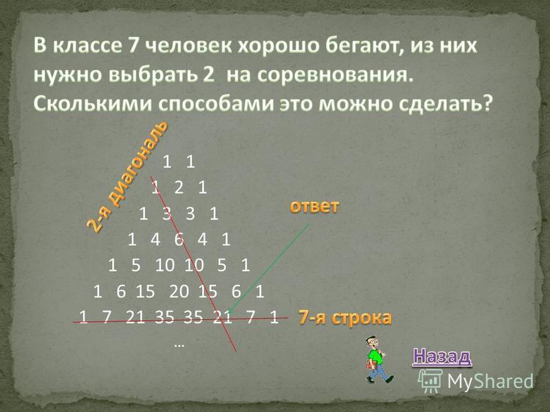 1 1 2 1 1 3 3 1 1 4 6 4 1 1 5 10 10 5 1 1 6 15 20 15 6 1 1 7 21 35 35 21 7 1 …