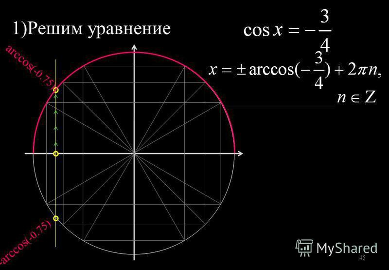 1)Решим уравнение 45