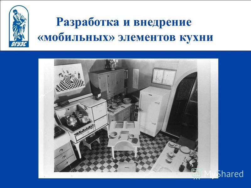 Разработка и внедрение «мобильных» элементов кухни 1.