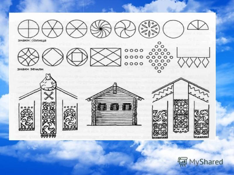 Солнца вырезались обычно на деревянных полотенцах и олицетворяли чистоту человеческих помыслов.