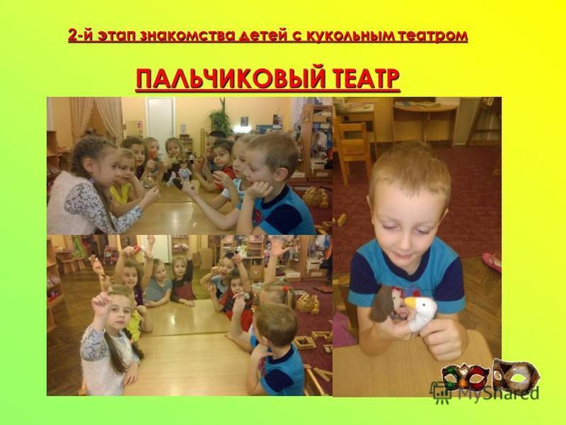 2-й этап знакомства детей с кукольным театром ПАЛЬЧИКОВЫЙ ТЕАТР